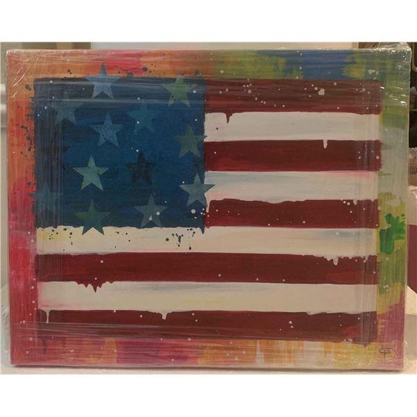 """Paulina Del Mar """"America Flag Blue"""""""