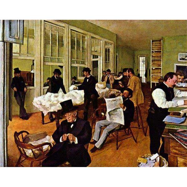 Edgar Degas - The Cotton Exchange