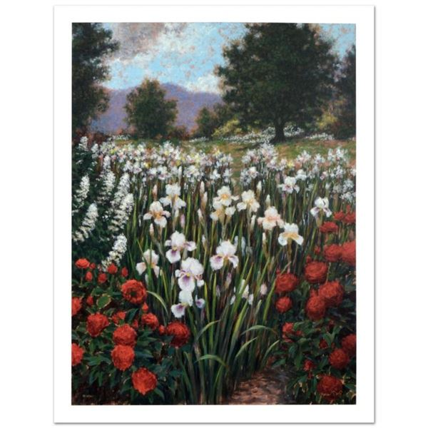 """""""Irises In A Meadow"""" Limited Edition Giclee (34"""" x 44"""") by Brian Davis, Numbered"""