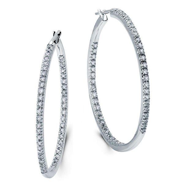 14k White Gold 1.00 ctw Diamond Earrings, (I1-I2/G-H)
