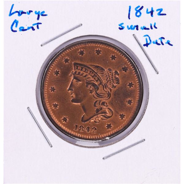 1842 Small Date Large Cent Coin