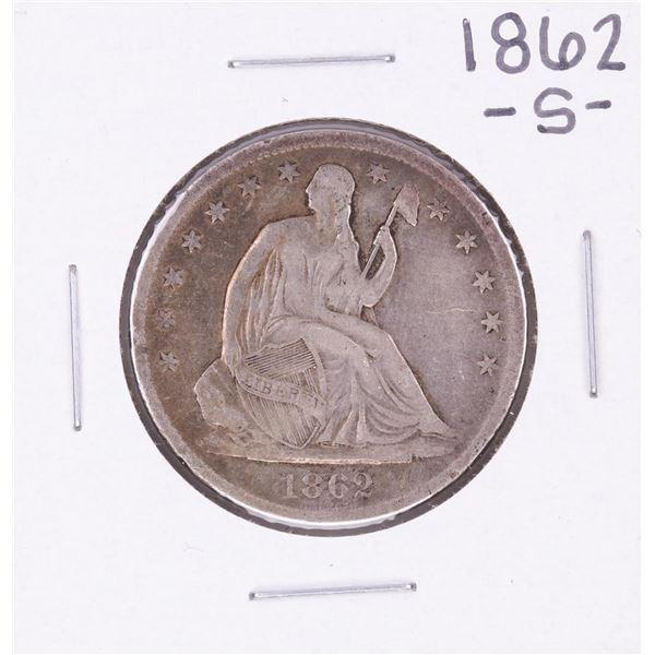 1862-S Seated Liberty Half Dollar Coin