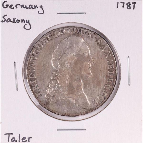 1787 Germany Saxony Taler Coin