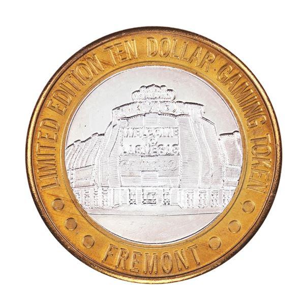 .999 Silver Sam Boyd's Fremont Las Vegas $10 Casino Limited Edition Gaming Token