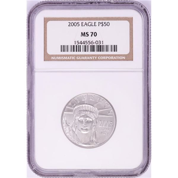 2005 $50 Platinum American Eagle Coin NGC MS70
