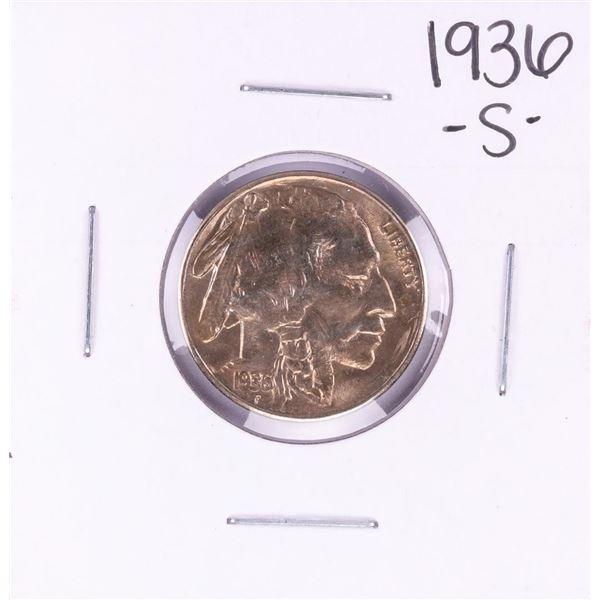 1936-S Buffalo Nickel Coin