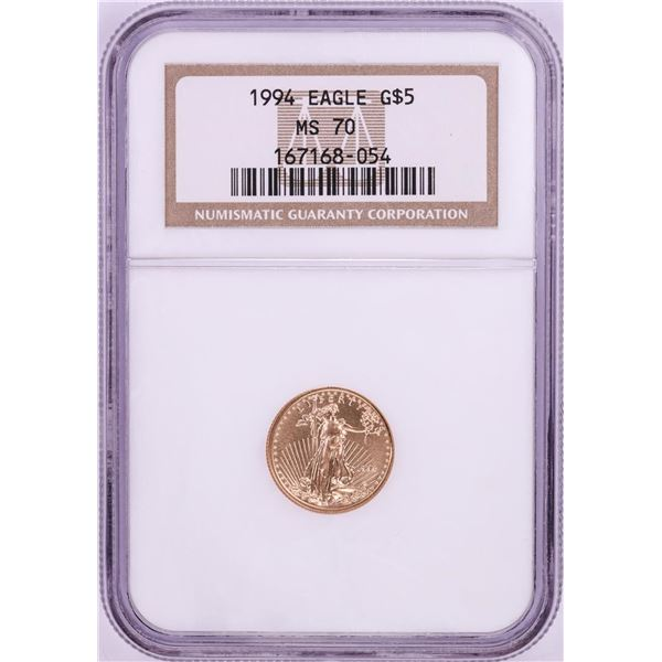 1994 $5 American Gold Eagle Coin NGC MS70
