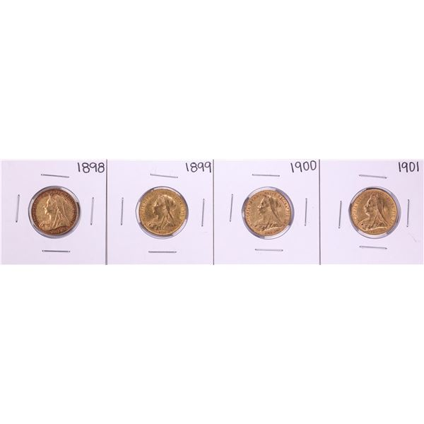 Lot of 1898-1901 Great Britain Sovereign Gold Coins