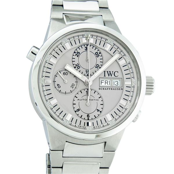 IWC Men's Stainless Steel 43mm GST Rattrapante Split Second Chronograph Wristwatch