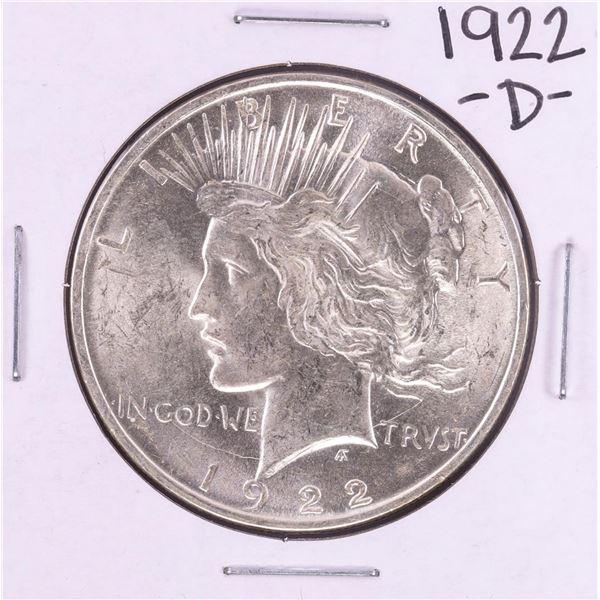 1922-D $1 Peace Silver Dollar Coin