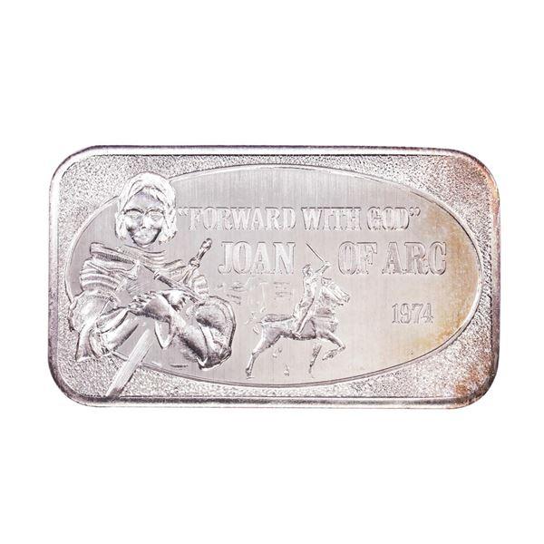 1974 U.S. Silver Corporation Joan of Arc 1oz .999 Fine Silver Art Bar