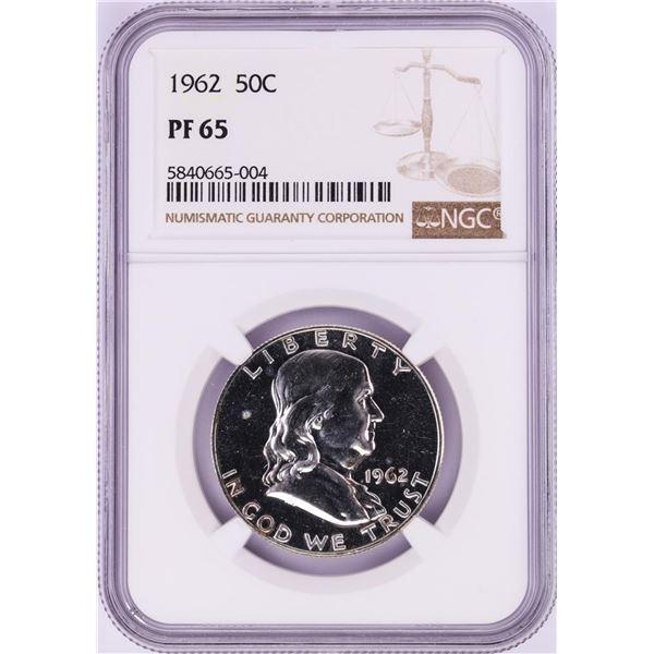 1962 Proof Franklin Half Dollar Coin NGC PF65