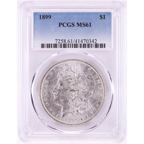 1899 $1 Morgan Silver Dollar Coin PCGS MS61