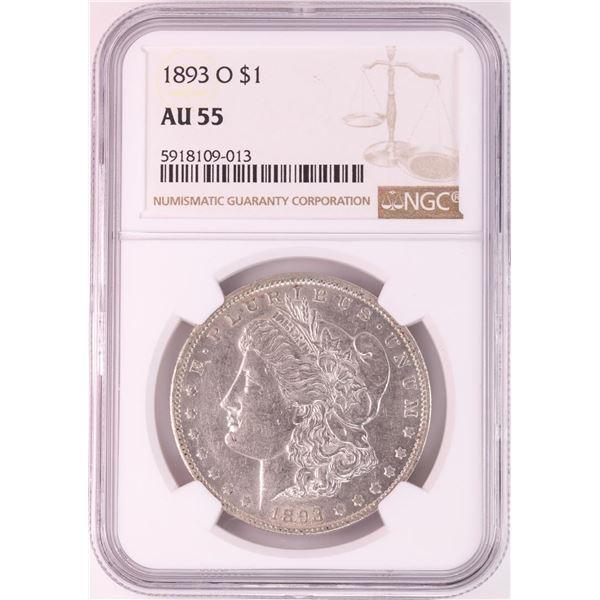 1893-O $1 Morgan Silver Dollar Coin NGC AU55