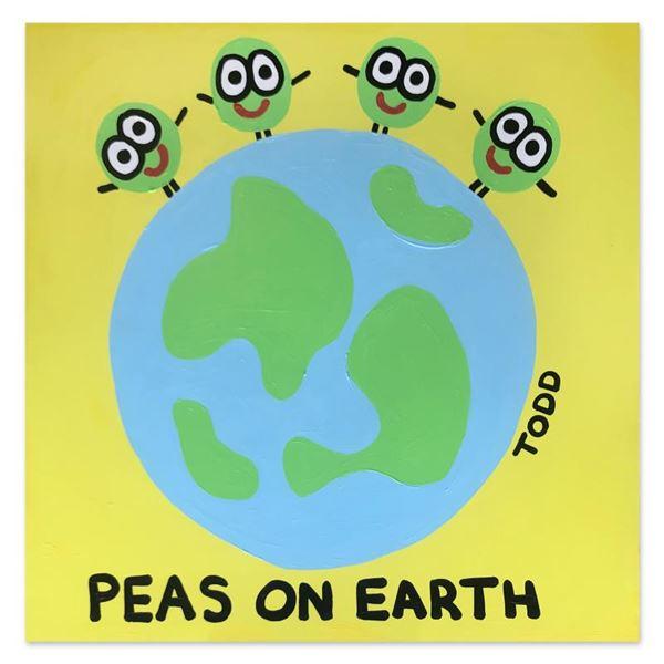 "Goldman ""Peas on Earth"" Original Acrylic on Canvas"