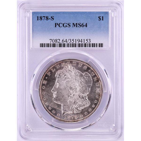1878-S $1 Morgan Silver Dollar Coin PCGS MS64