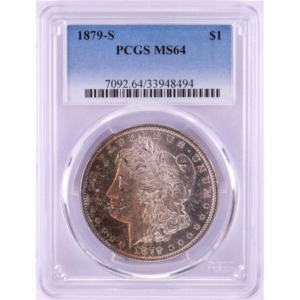 1879-S $1 Morgan Silver Dollar Coin PCGS MS64 Amazing Toning