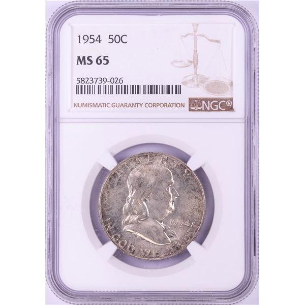1954 Franklin Half Dollar Coin NGC MS65