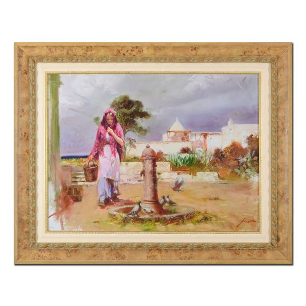 """Pino (1939-2010) """"The Water Fountain"""" Limited Edition Giclee On Canvas"""