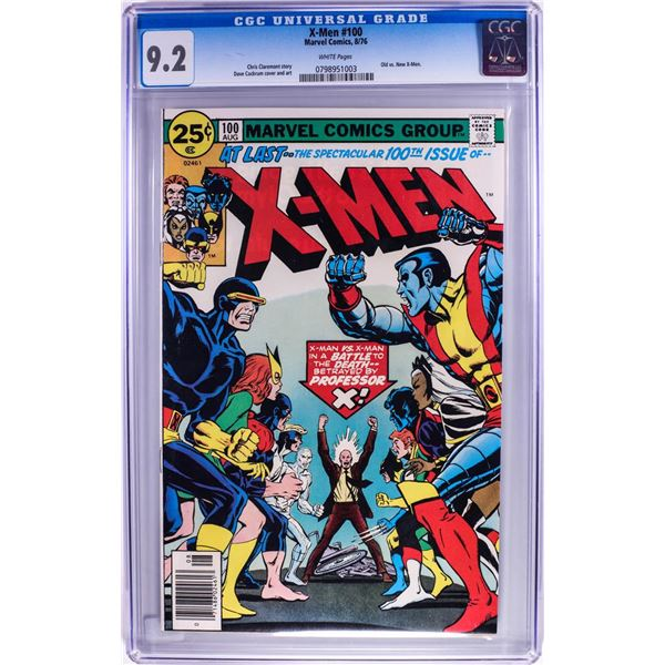 Marvel Comics Group X-Men #100 Comic Book 8/76 CGC 9.2