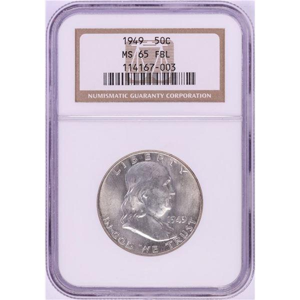 1949 Franklin Half Dollar Coin NGC MS65FBL