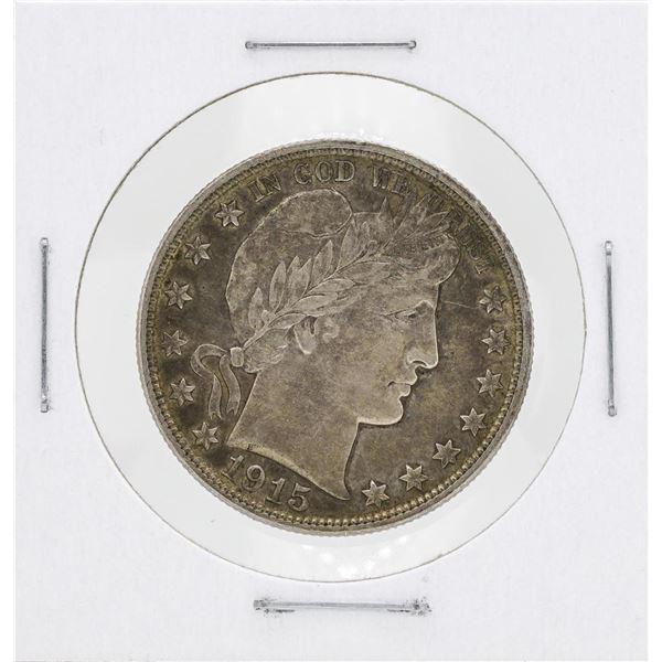 1915-D Barber Head Quarter Silver Coin