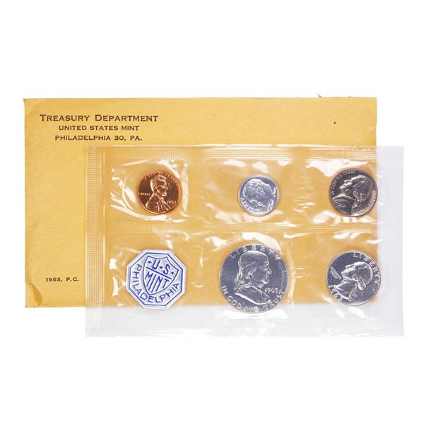 1963 (5) Coin Proof Set in Envelope