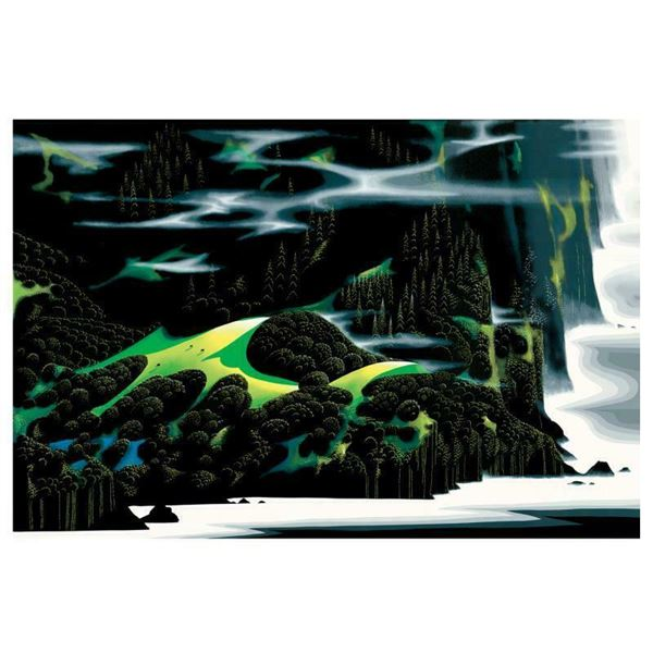 """Eyvind Earle (1916-2000) """"Haze Of Early Spring"""" Limited Edition Serigraph"""