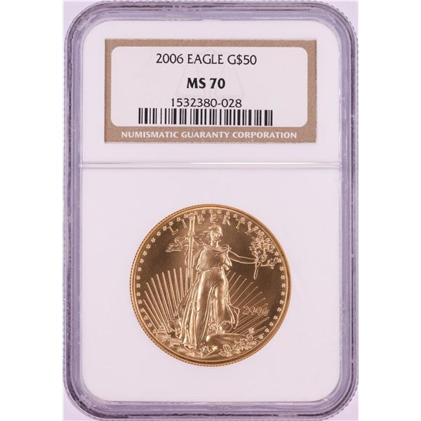 2006 $50 American Gold Eagle Coin NGC MS70