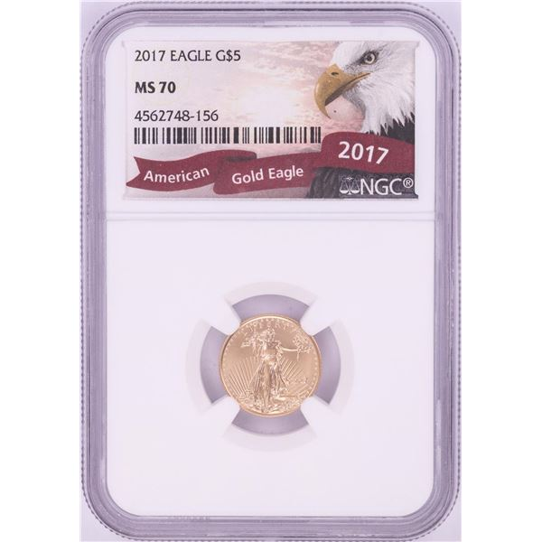 2017 $5 American Gold Eagle Coin NGC MS70