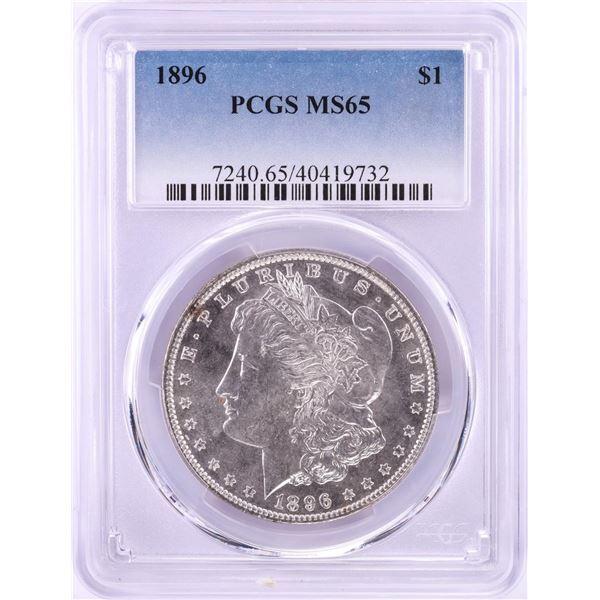 1896 $1 Morgan Silver Dollar Coin PCGS MS65