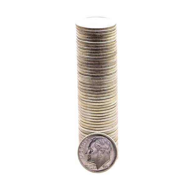 Roll of (50) Brilliant Uncirculated 1963-D Roosevelt Dimes