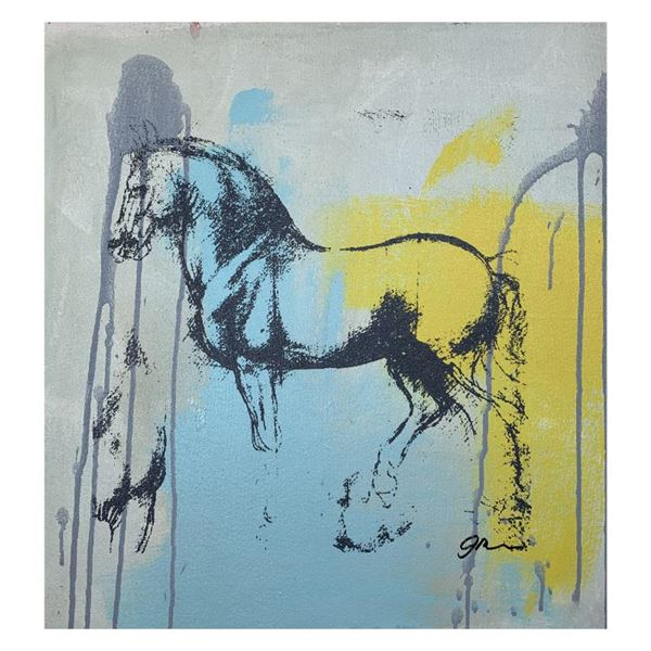 "Gail Rodgers ""Leonardo's Horse"" Original Mixed Media on Canvas"