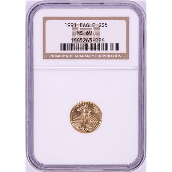 1991 $5 American Gold Eagle Coin NGC MS69