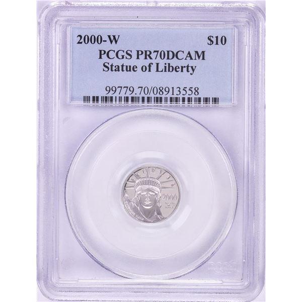 2000-W $10 Proof Platinum American Eagle Coin PCGS PR70DCAM