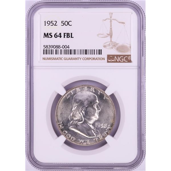 1952 Franklin Half Dollar Coin NGC MS64FBL