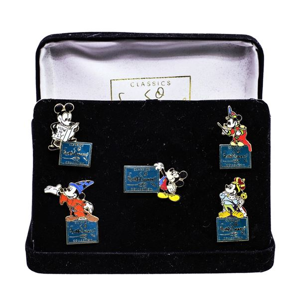 Mickey Through the Years Classic Walt Disney (5) Pin Collection