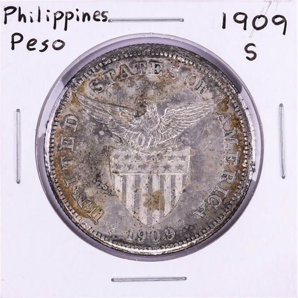 1909-S Philippines One Peso Silver Coin