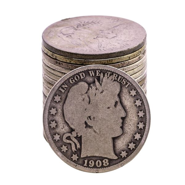 Roll of (20) Mixed Date Barber Half Dollar Coins