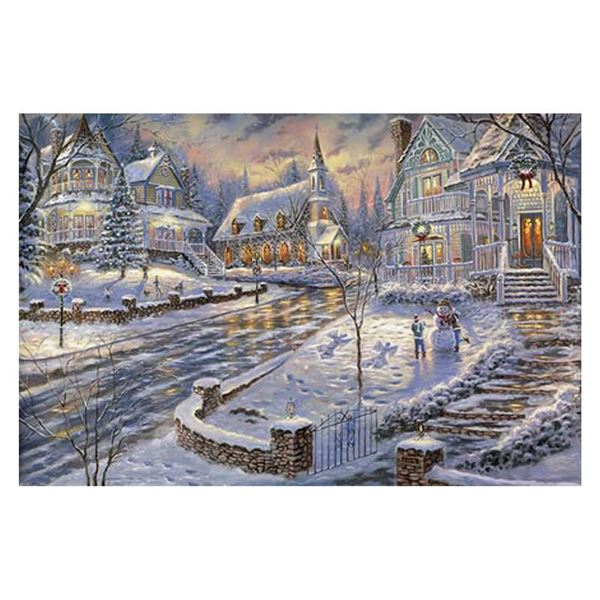 Robert Finale  Christmas Snow  Limited Edition Giclee on Canvas