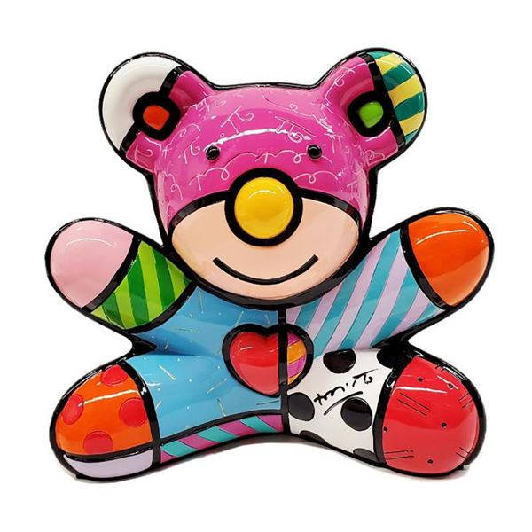 Romero Britto  Summer Bear  Limited Edition Sculpture