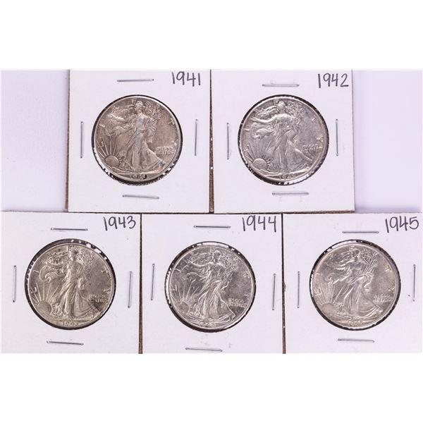 Lot of 1941-1945 Walking Liberty Half Dollar Coins