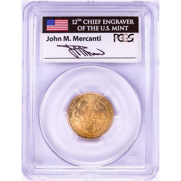 2007-W Jamestown Memorial Church $5 Gold Coin PCGS MS69 Mercanti Signature