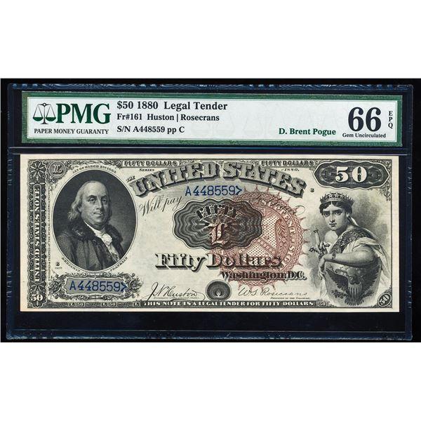 1880 $50 Legal Tender Note Fr.161 PMG Gem Uncirculated 66EPQ