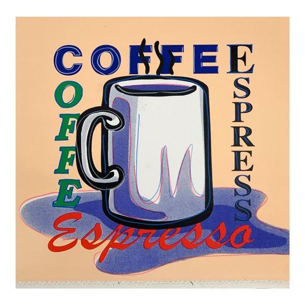 "Steve Kaufman (1960-2010) ""Espresso"" Original Mixed Media on Canvas"