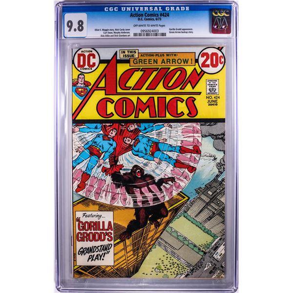 D.C. Comics Action Comics #424 Comic Book 6/73 CGC 9.8