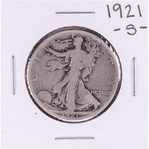 1921-S Walking Liberty Half Dollar Coin