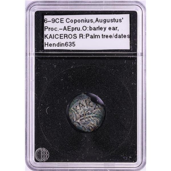 6-9CE Coponius Augustus Bronze Prutah Ancient Coin