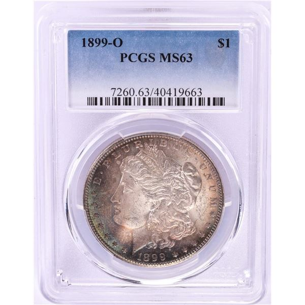 1899-O $1 Morgan Silver Dollar Coin PCGS MS63 Nice Toning