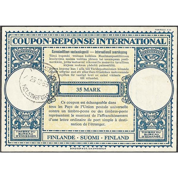 Finland Coupon-Response International 35 Mark Currency Note